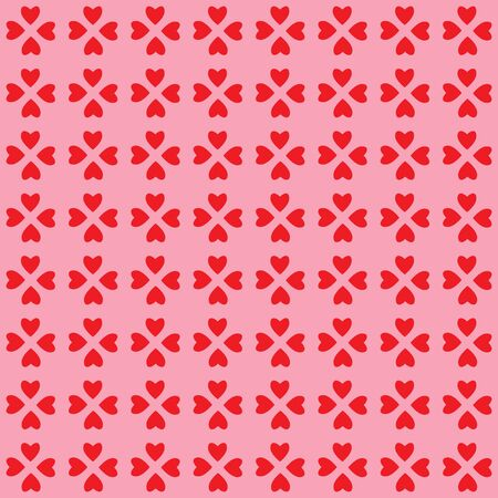A background pattern of valentine hearts in red and pink photo