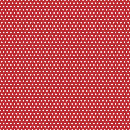 赤い背景に白の水玉のイラスト