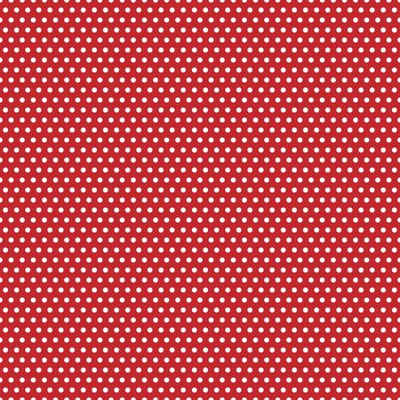 An illustration of white polka dots on red background