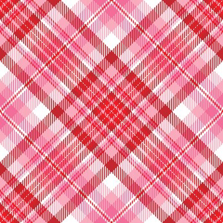 Plaid background pattern in shades of red and pink
