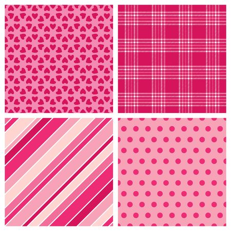 A set of four background patterns for Valentines day photo