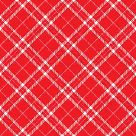 Red Plaid background pattern with pink stripes