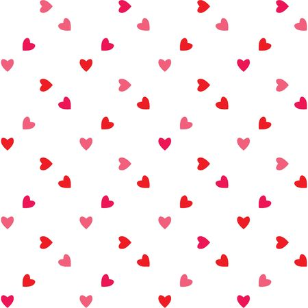 corazones: A background pattern of valentine hearts in shades of red and pink