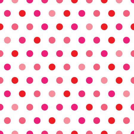 red wallpaper: A background illustration of polka dots in Valentines colors Stock Photo