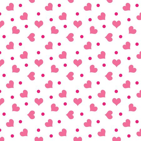 corazones: A background of valentine hearts with dots