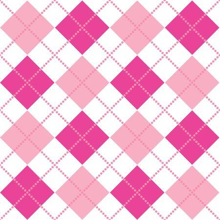 핑크색의 아가일 무늬