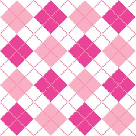 An argyle pattern in shades of pink