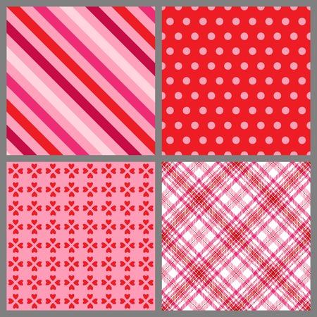 A set of four background patterns for Valentines day Zdjęcie Seryjne - 4281384