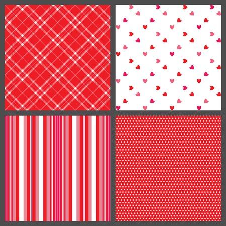 red polka dots: Un conjunto de cuatro modelos de fondo para el D�a de San Valent�n