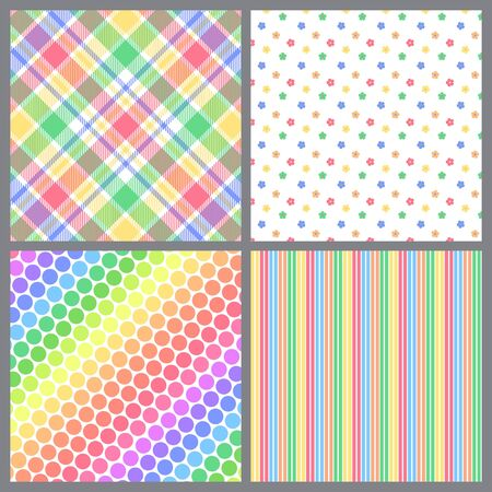A set of four background patterns for spring Stock Photo