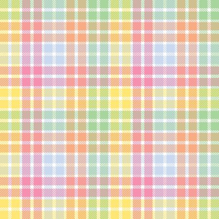 material: A plaid background pattern in pastel colors Stock Photo