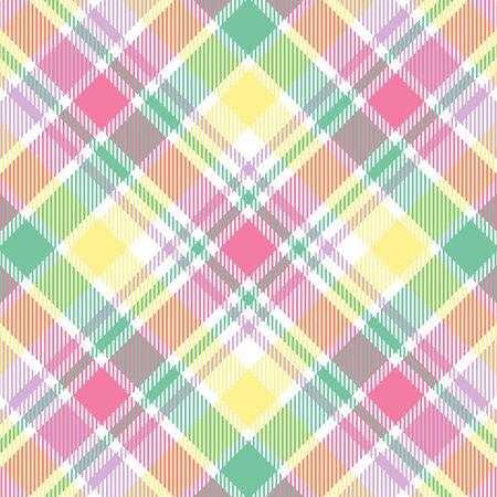 パステル カラーに格子縞の背景パターン