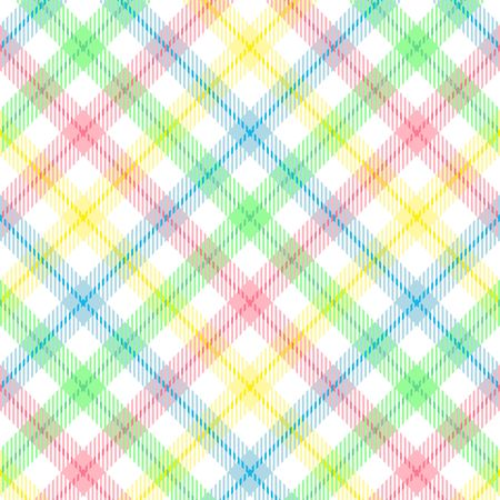 pastel backgrounds: A plaid background pattern in pastel colors Stock Photo