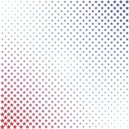 赤と青のハーフトーン受けて背景イラスト