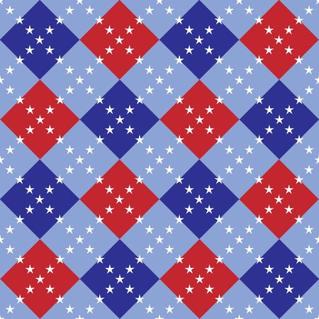 An illustration of red, white and blue argyle pattern Stok Fotoğraf