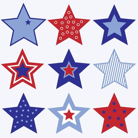 A set of red, white and blue stars