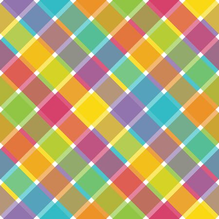 bright: An illustration of a bright plaid pattern Stock Photo