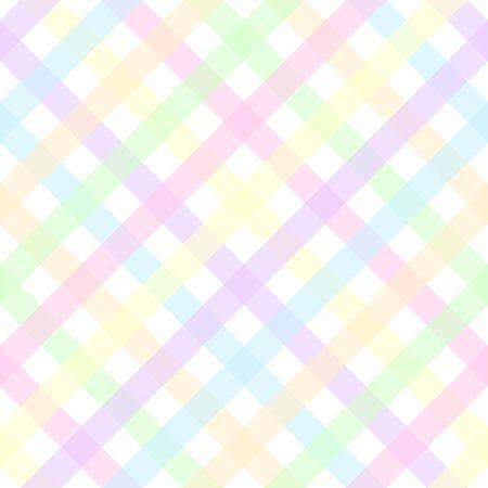 パステル格子縞パターンのイラスト