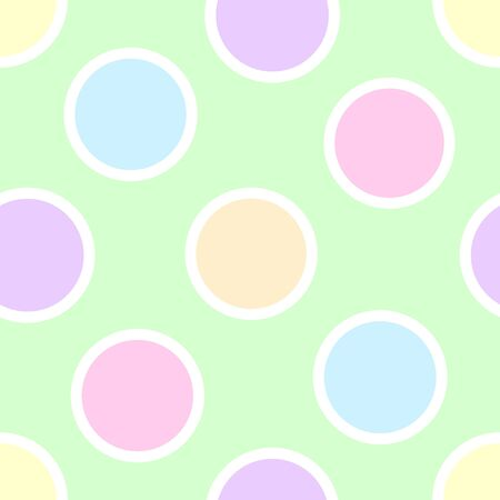 An illustration of pastel polka dots illustration