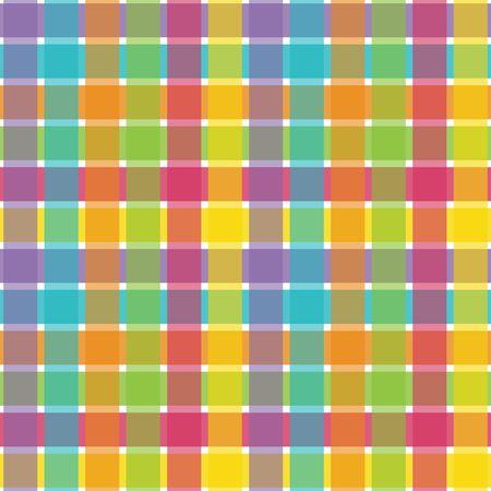 An illustration of a bright plaid pattern illustration
