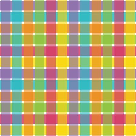 rainbow colors: An illustration of a bright plaid pattern Stock Photo