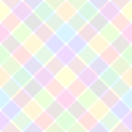 An illustration of a pastel plaid pattern illustration