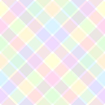 Une illustration d'un motif à carreaux pastel Banque d'images