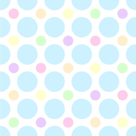 teal: An illustration of pastel polka dots