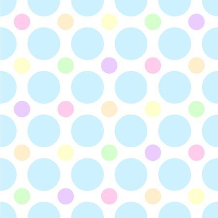 lavendar: An illustration of pastel polka dots