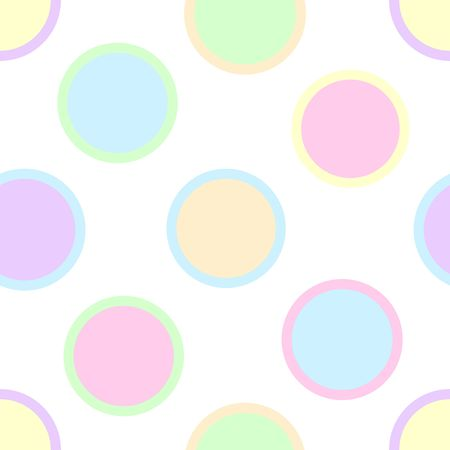 An illustration of pastel polka dots