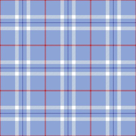 An illustration of a patriotic red and blue plaid illustration
