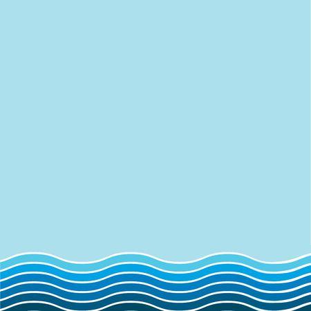青色の波線の背景イラスト 写真素材