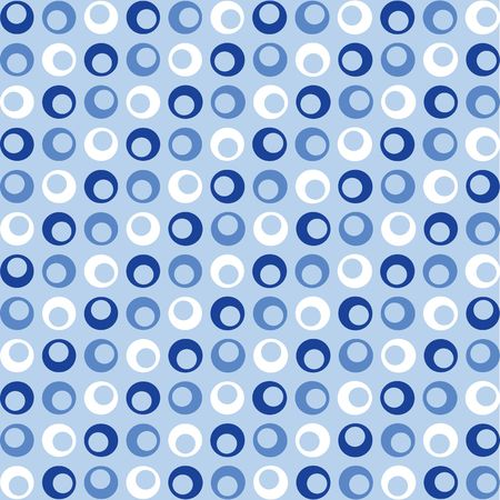 A background illustration of blue and white retro looking dots