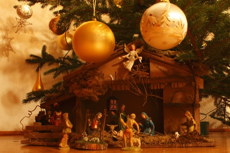 creche under the christmas tree Stock Photo - 8539294