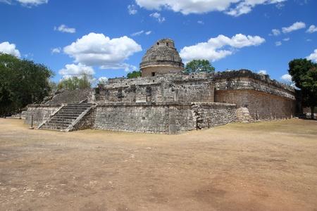 El Caracol, ancient observatory temple in Chichen Itza, Mexico photo