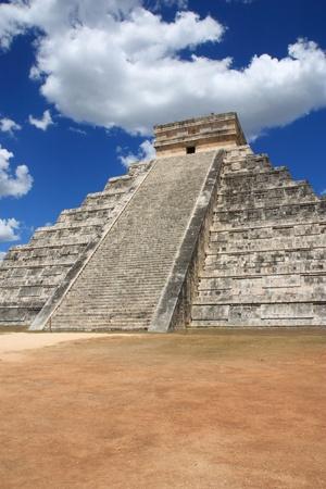 The Mayan pyramid in Chichen Itza,Mexico. photo