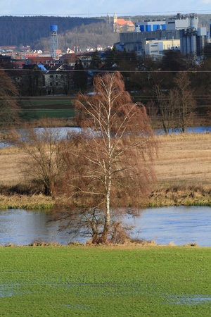 the river Naab on a sunny winter day Stock Photo - 11976743