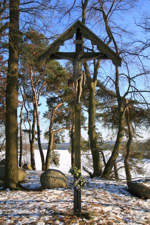old cross in wintwe, near to schwandorf in bavaria photo