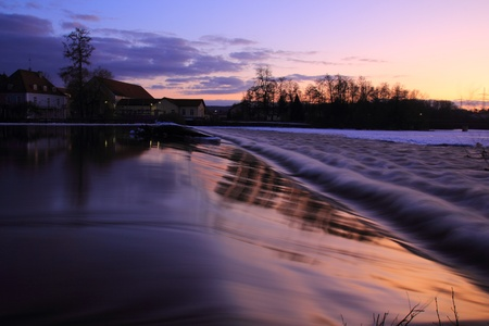 A little dam in the evening sun, Ettmannsdorf near to Schwandorf in Bavaria photo