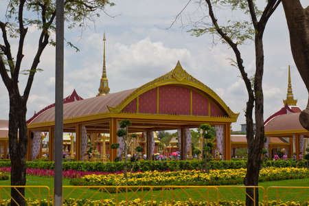 The Wat Phra Kaeo next to the King Palace in Bangkok photo