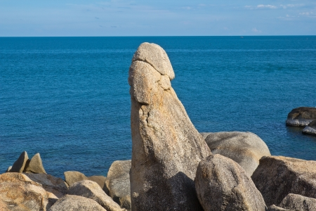 attraktion: The Grandfather Rock in Koh Samui � Thailand Stock Photo