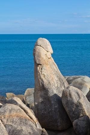 pene: The Rock Nonno Koh Samui in Thailandia Archivio Fotografico