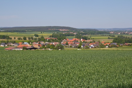 the bavarian village G�gglbach inear to Schwandorf in summer photo