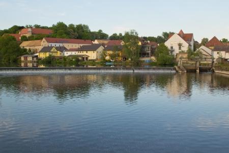 the bavarian village Fronberg inear to Schwandorf in summer photo
