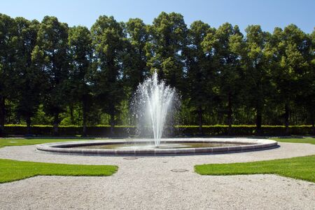 king palace: nice spring at the castle Herrenchiemsee in bavaria