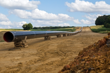 oilfield: new gas pipelines being built next to Schwandorf in Bavaria Stock Photo