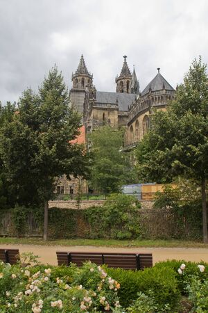 The Cathedral of Magdeburg in Germany photo
