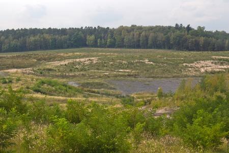 The brown coal mining area in Wackersdorf, Bavaria photo