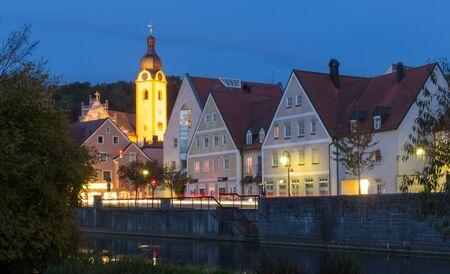 The bavarian city Schwandorf at sundown photo