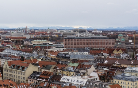 fantastic view: fantastic view from the tower of the church St. Peter in Munich
